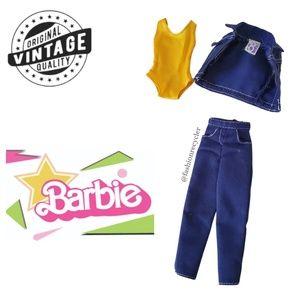 Vintage 70s Barbie Outfit Jeans GUC
